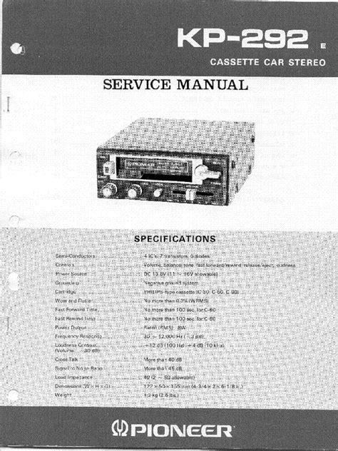 pioneer deh p650 p6500 p6550 service manual free schematics eeprom repair info for