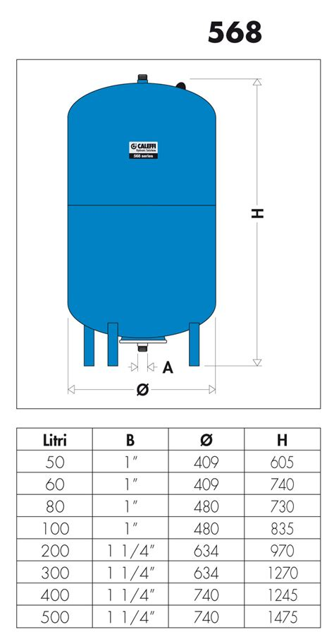 caleffi vaso espansione 568 vaso d espansione saldato per impianti sanitari