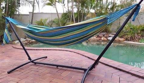 Free Standing Hammock by Free Standing Hammock Teal Blue Canvas Hammock With Fixed