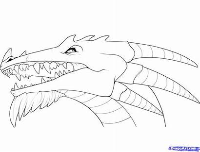 Dragon Draw Coloring Step Heads Faces Dragons