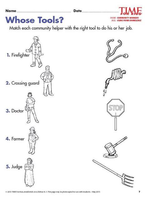 Community Helpers Worksheets For Kids  Kids Matttroy
