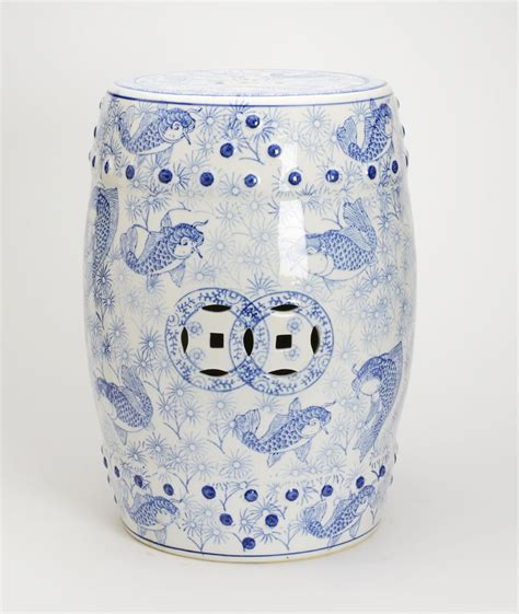 blue and white garden stool blue and white garden stool the pink pagoda blue and