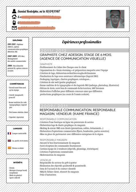 Rédaction Cv Gratuit by Resume Format Curriculum Vitae Exemple Gratuit Medecin