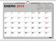 Calendario 2019 basico a4 anual castellano Librería Carmen