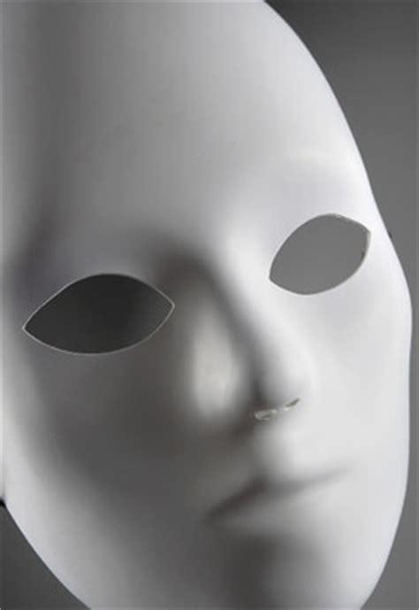 blank white masks adult    full mask primed