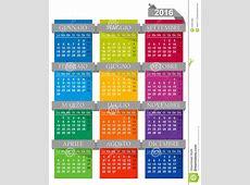 Calendario 2016 Illustrazione Vettoriale Immagine 54667368
