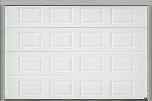 porte de garage sectionnelle motorisee blanche h200xl300 With porte de garage bricoman