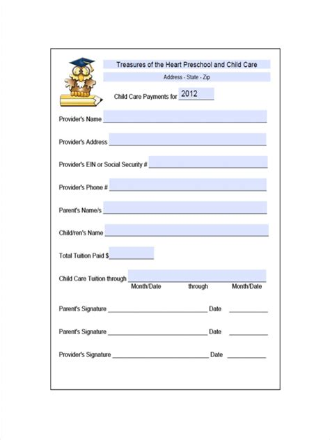 daycare tuition receipt template free 9 daycare receipt exles sles in pdf doc