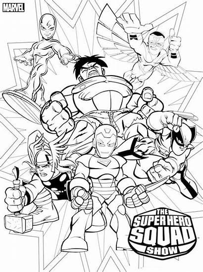 Coloring Superhero Pages Dc Printable Boys Colors