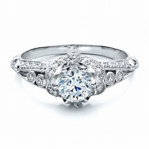 knife edge engagement ring vanna k 100062 With knife edge wedding ring