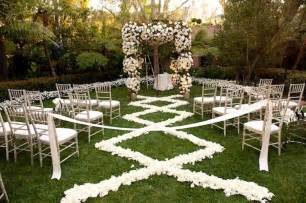 outdoor wedding aisle petal aisle runner for outdoor wedding ceremonies ivory chagne onewed