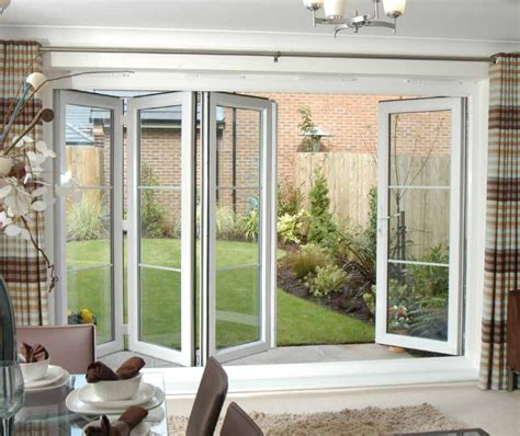 bifold patio doors with screens prefab homes