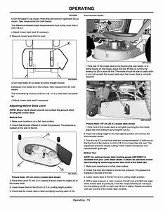 Adjusting Mower Deck Level  Method One  Method Two