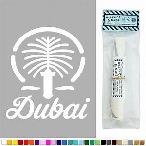Dubai united arab emirates vinyl sticker decal wall art