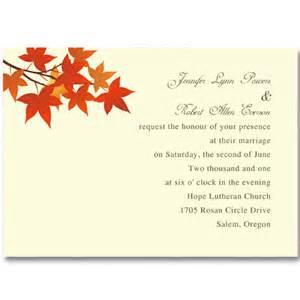 cheap wedding favors ideas simple fall leaves wedding invitations ewi240 as low as 0 94