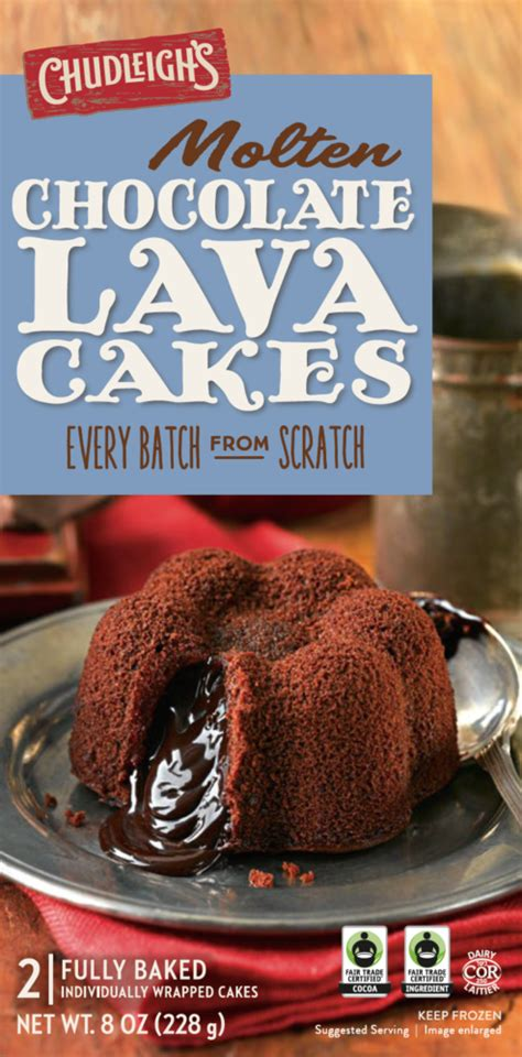 molten chocolate lava cakes chudleighs