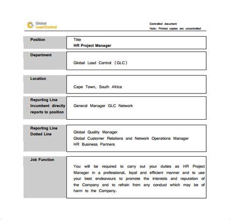 project manager job description templates