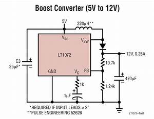 Lt1072 Boost Converter  5v To 12v  Circuit Collection