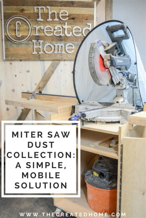 miter  dust collection  simple mobile solution
