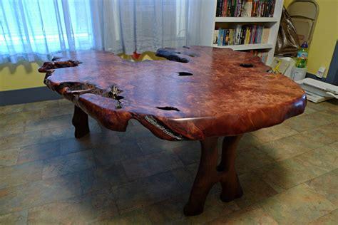 redwood burl table  chaotic  lumberjockscom