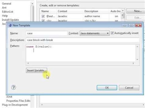 Eclipse Modify Templates by How To Tweak Eclipse Templates To Suit You Eclipse On E