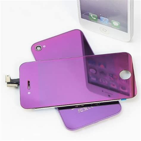 iphone 4s screen replacement kit purple chrome electroplating iphone 4s lcd touch screen