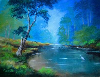 Serenity Scenes Paintings Landscape