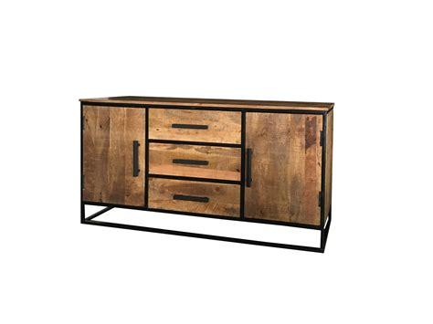 sideboard industrial look industrial style light mango wood 2 door 3 drawer sideboard
