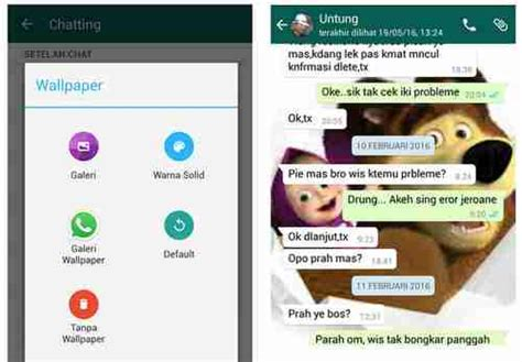 Cara Ganti Wallpaper Chat Whatsapp Dari Galeri