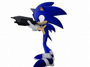 sonic with gun by ryanlegojedi on DeviantArt