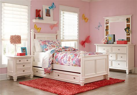 Rooms To Go Kids : Belmar White Pc Full Poster Bedroom-bedroom Sets White
