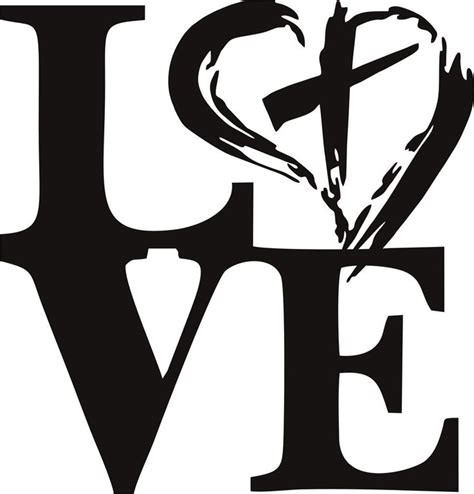 Love Christ with All My Heart Vinyl Decal   Vinyl decal ...