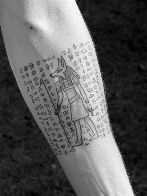 30 Hieroglyphics Tattoo Designs For Men - Ancient Egyptian Ink Ideas