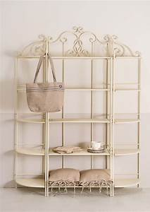 Composizione etagere ferro bianca mobili etnici for Librerie in ferro battuto