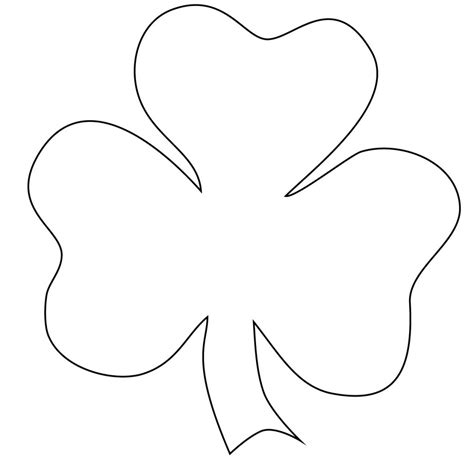 printable shamrock coloring pages  kids