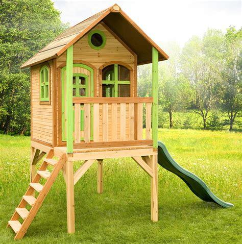 Kinderspielhaus Hohes Holzstelzenspielhaus Stelzen