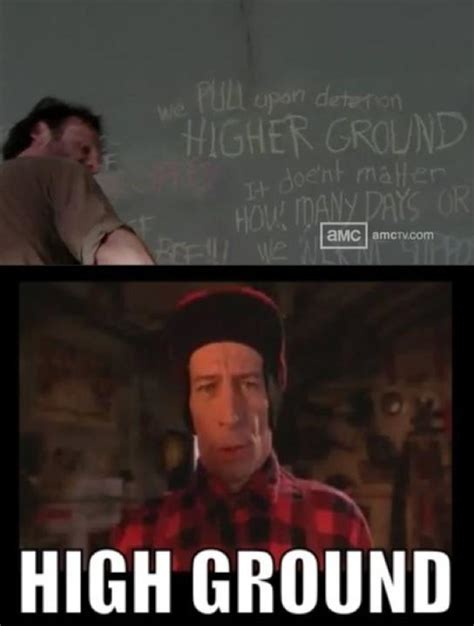 High Ground Memes - the high ground the walking dead know your meme