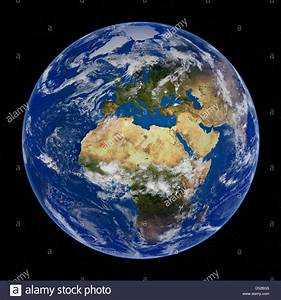 Earth View from Space, Europe and Africa Stock Photo ...