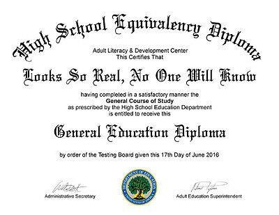 fake ged high school diploma  picclick