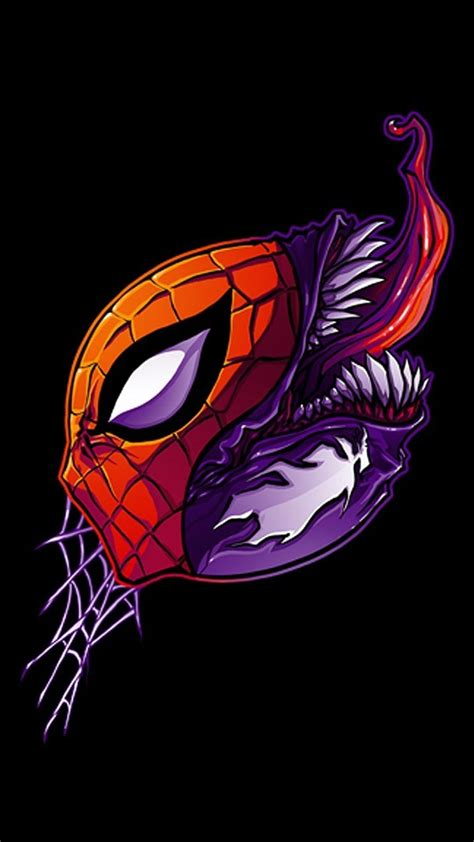 Lock Screen Wallpaper Venom by Marvel Comics Spider Venom Black Background Fan