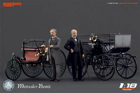 Karl Benz And Gottlieb Daimler Figures