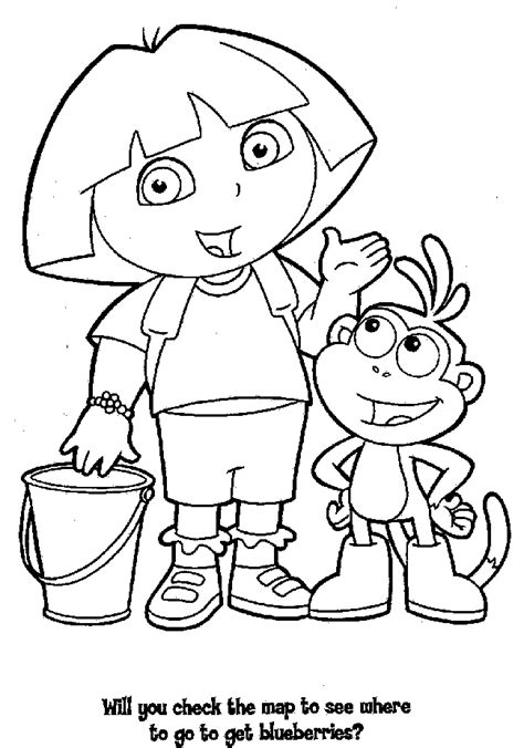 dora coloring pages coloring pages  print