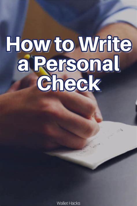 easy steps    write  personal check