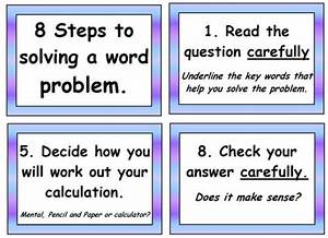 Solving Word Problem Poster Pack