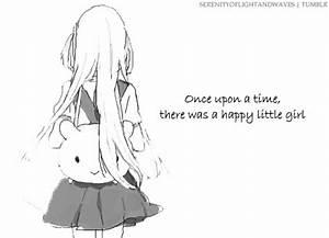 black and white anime girl tumblr Quotes