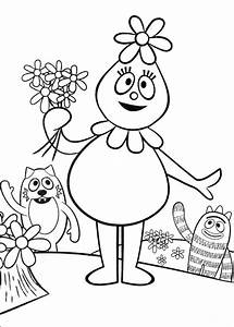Fun Coloring Pages  Yo Gabba Gabba Coloring Pages