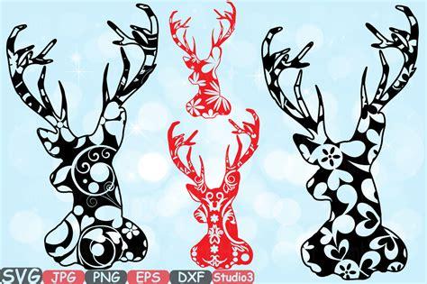 Cut files for cricut & silhouette. Deer Floral Mascot Woodland Flower Monogram Circle Cricut ...
