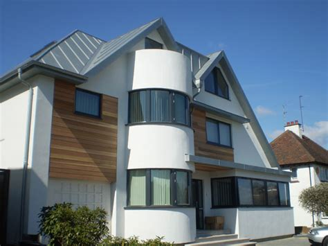 zinc roofing  cladding  brighton sussex family house