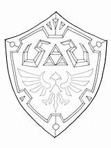 Shield Hylian Template Zelda Drawing Deviantart Coloring Legend Sword Pages Tattoo Link Master Birthday Shields Cake Templates Own Diy Medieval sketch template