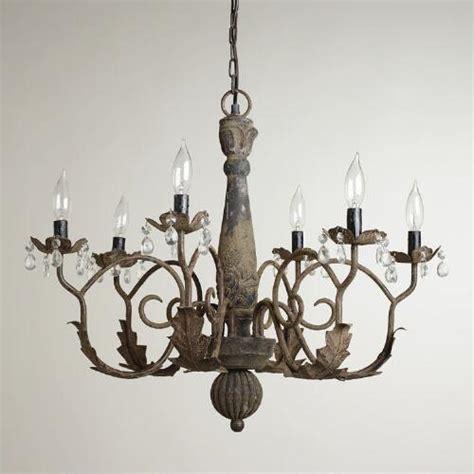aged black chandelier world market